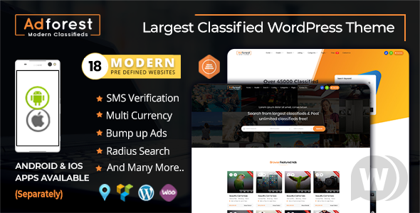 AdForest theme NULLED–WordPress Ad Template