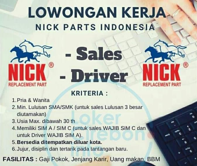 Lowongan Kerja Nick Parts Indonesia