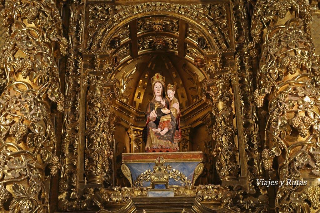 Virgen de la Terraza o de santa María la real del Monasterio de Santa María la real de Nájera. La Rioja