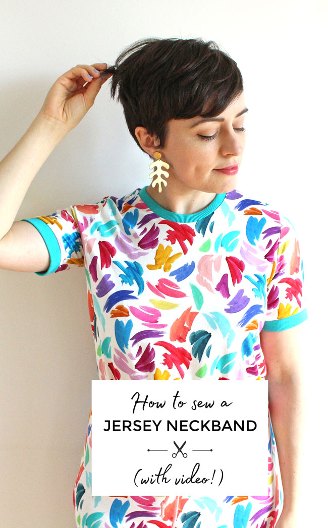 How to sew a jersey neckband (with video!) - Tilly and the Buttons