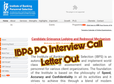 IBPS PO IX PO Interview Call Letter Released Download Now - Sarkarinaukariexam