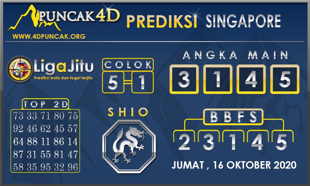 PREDIKSI TOGEL SINGAPORE PUNCAK4D 17 OKTOBER 2020