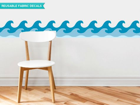Wave border Wall Decal