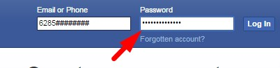 facebook login in mobile phone fb