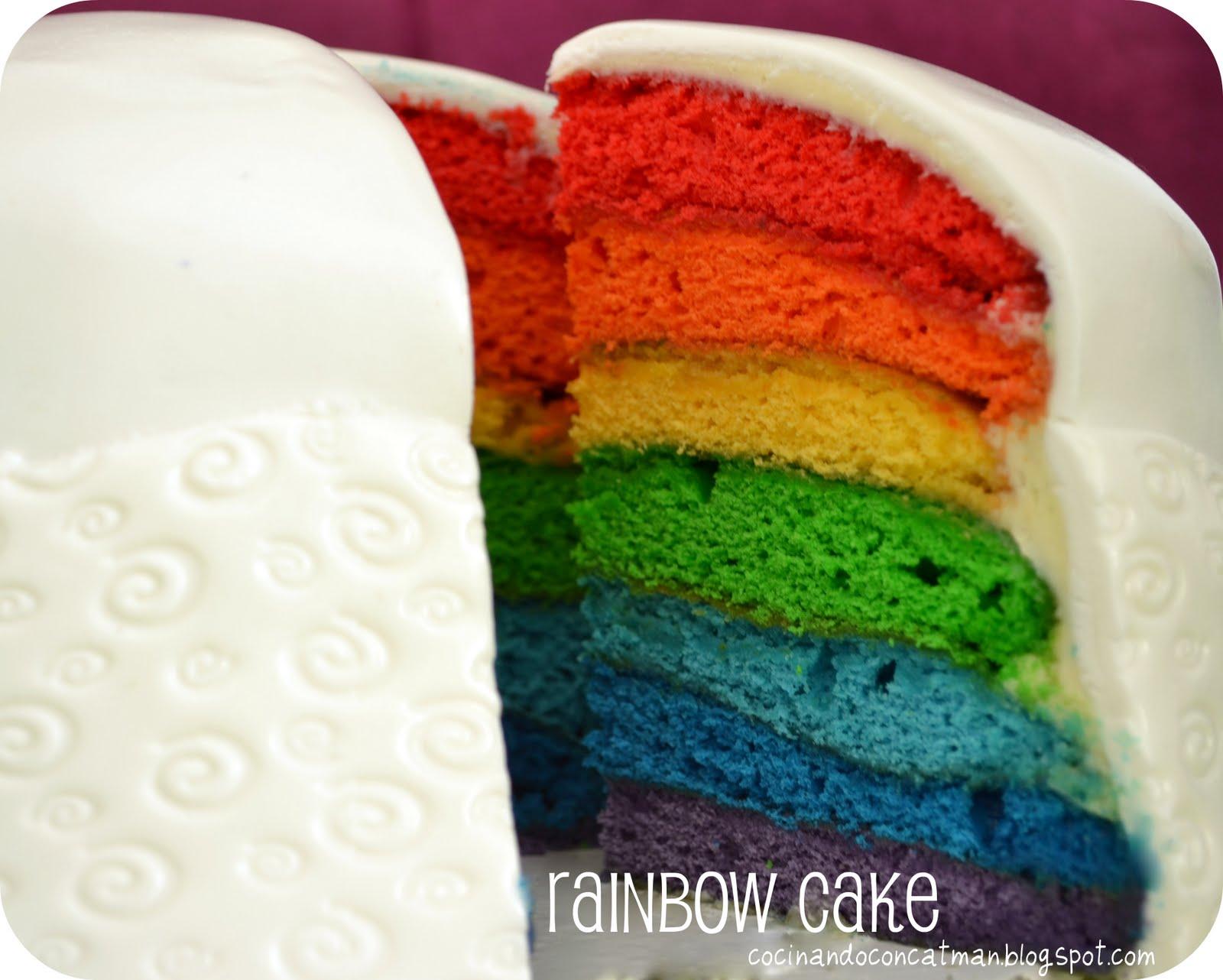 Rainbow Cake Tarta Arcoiris Cocinando Con Catman