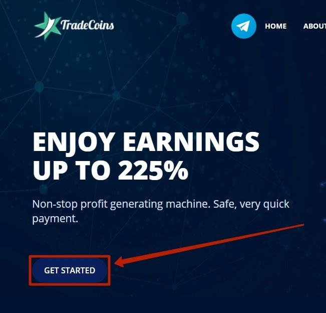 Регистрация в Tradecoins