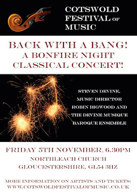 Bonfire Night concert on 5 November 2021 in the church of St Peter  & St Paul, Northleach