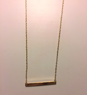 Charming Charlie Gold Bar Necklace