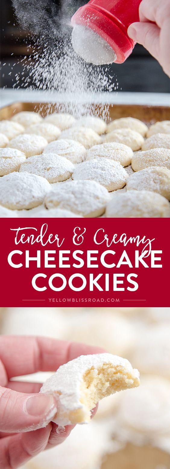 CHEESECAKE COOKIES #cheesecake #cookies #cookiesrecipes #cookiesideas #easycookierecipes #sugar