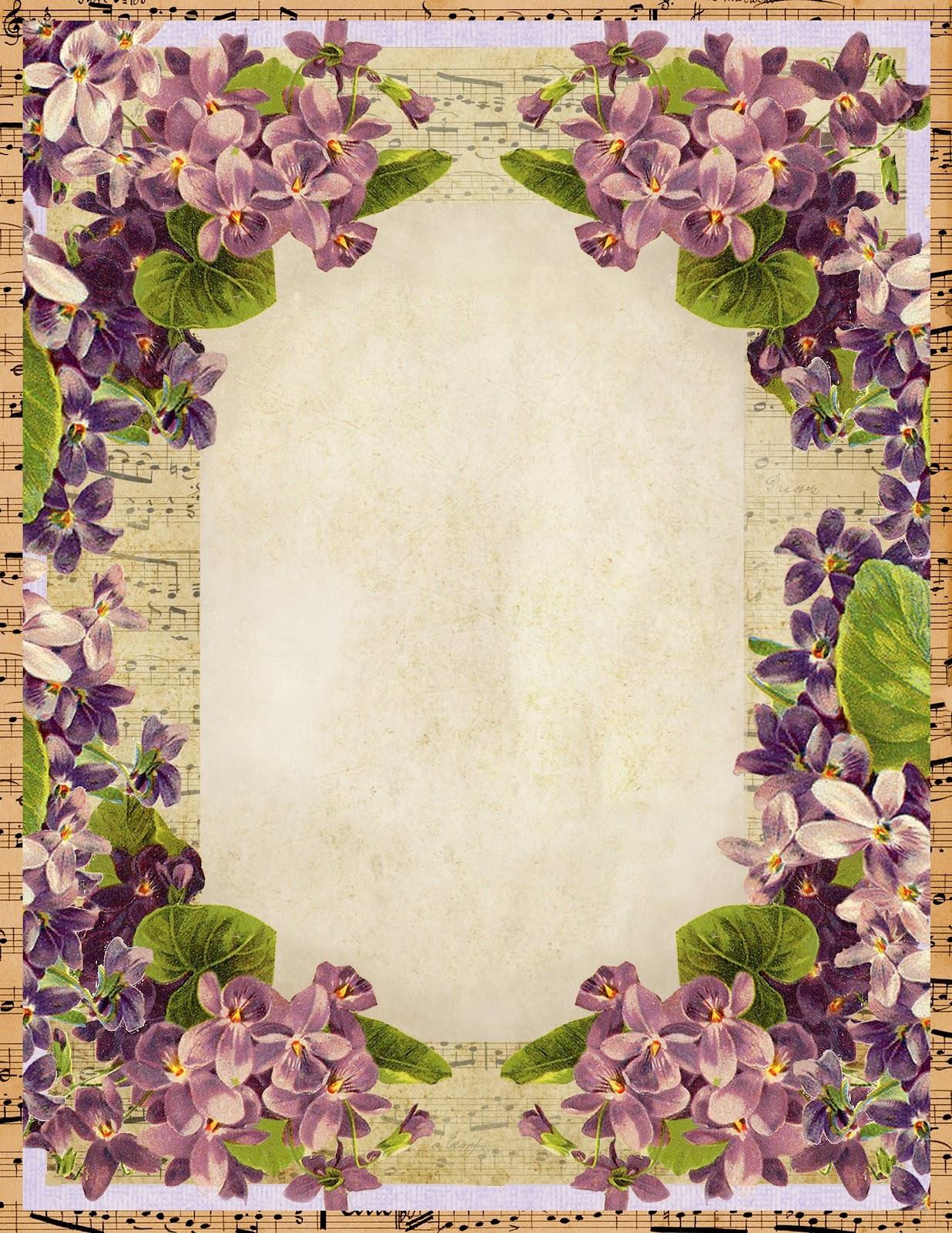 Lilac Amp Lavender Sweet Violets Stationery