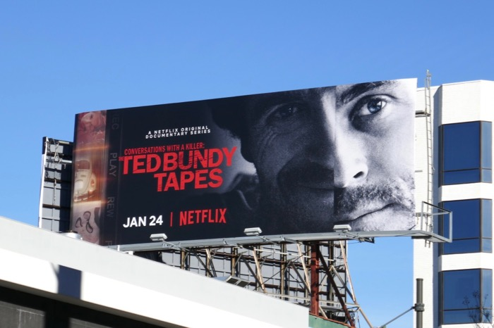 Ted Bundy Tapes series premiere billboard