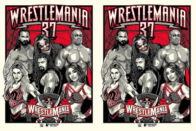 WWE WrestleMania 37 Screen Print by Stolitron x Phenom Gallery