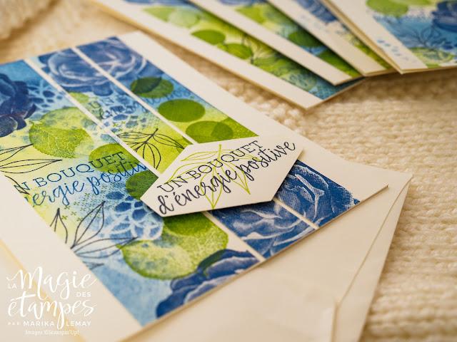 Carte Stampin'up avec papier design maison fait avec les étampes Doux réconfort