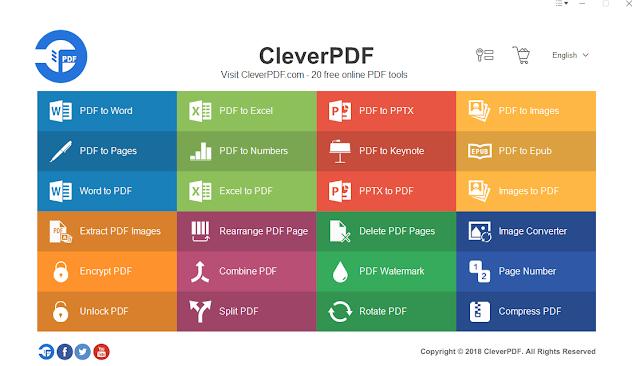 """برنامج تحويل ملفات pdf الى جميع الصيغ والامتدادات d و Excel و PPTX و iWork و EPUB وصور ؛ * """"الأدوات مجانية"""" تشمل الصور إلى PDF ، محول الصور ، استخراج صور PDF ، إعادة ترتيب صفحة PDF ، تحويل Word إلى PDF ، ،تحويل Excel إلى PDF ، تحويل PPT إلى PDF ، تحويل الصور الى PDF ؛ """"خدمة pdf"""" تشمل تشفير ، وفتح ، وضغط ، ودمج ، وتقسيم ، وتدوير PDF ، وعلامة مائية pdf وأرقام pdf"""