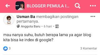 Butuh waktu berapa lama blog di index google?