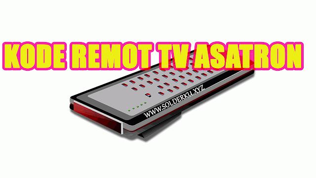 Kode Remot tv Asatron