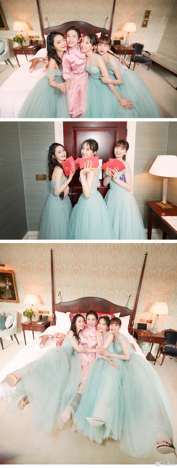 Tina Tang Yixin bridesmaids Li Qin Victoria Song Shen Mengchen