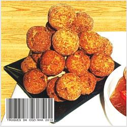 Bolinhas crocantes com creme de cebola fritas