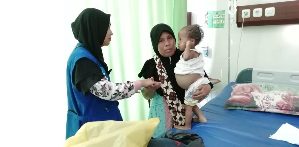 Bocah yang di Duga Mengalami Gizi Buruk Akibat Suspek Tumor Ginjal akhirnya dirujuk kerumah Sakit RSZA