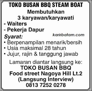 Lowongan Kerja Karyawan Toko Busan BBQ Steam Boat
