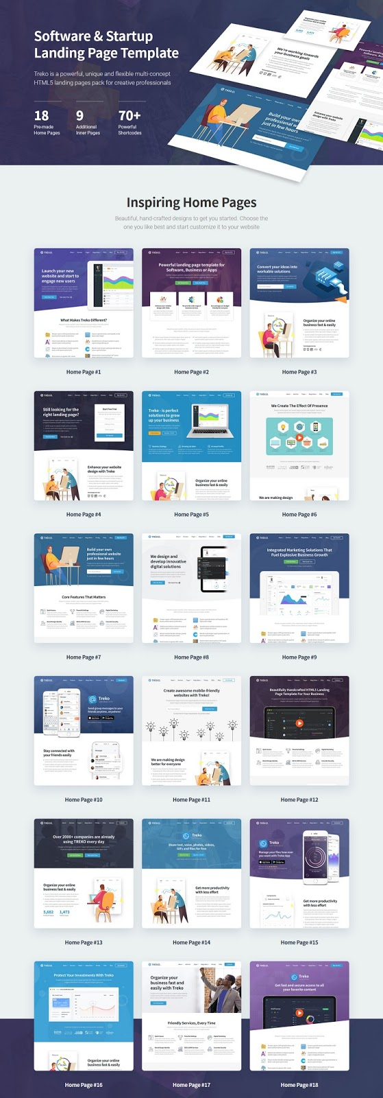Startup and Software Landing Page Template