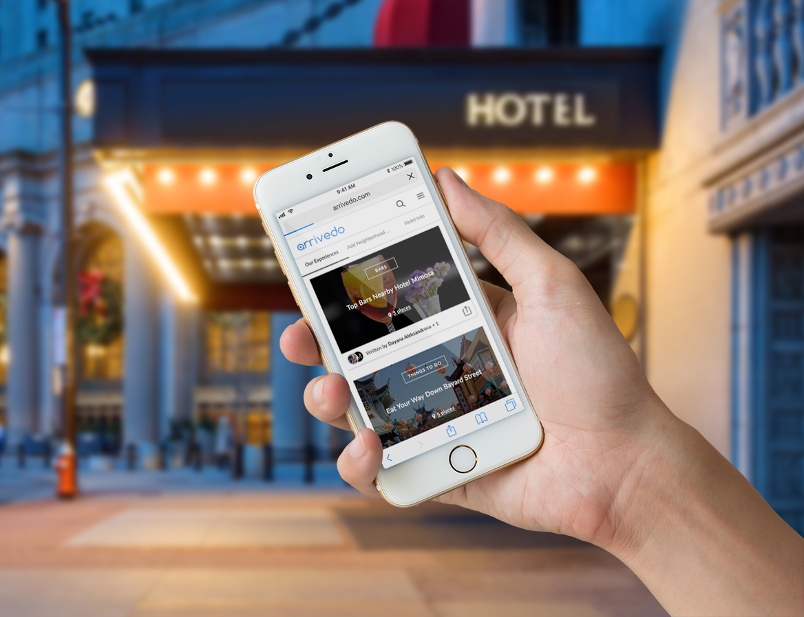 Mobile view of the hotel travel guides