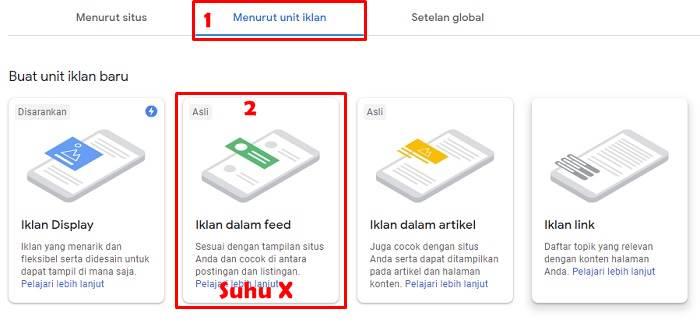 Cara Memasang Iklan In-Feed Google AdSense pada Blogspot