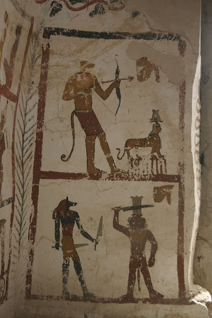 Paintings from the tomb of Sadosiris at Muzawaka (XIV)