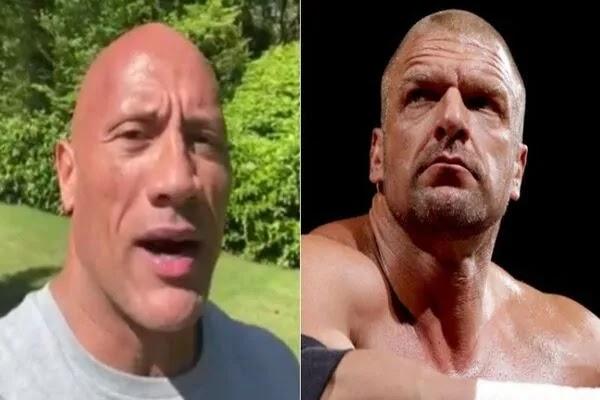ذا روك يفاجئ تربل اتش برسالة صادقة بمناسبة مرور 25 سنة على انطلاق مسيرته في WWE (فيديو)