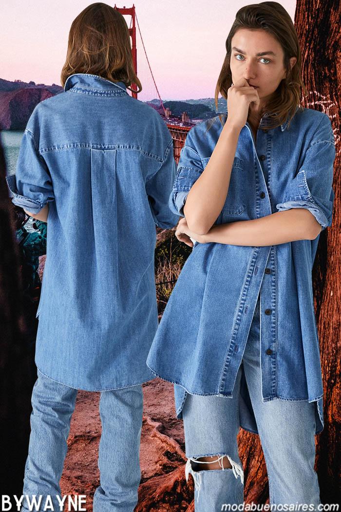 Moda primavera verano 2020 jeans- Camisas y pantalones de jeans primavera verano 2020.