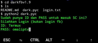 Cara Hack FB Dengan Termux Tanpa Root