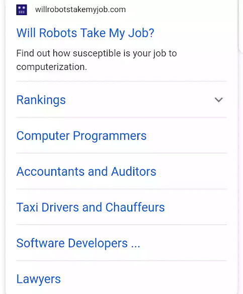 will robot take my job
