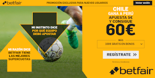 betfair supercuota Chile gana a Peru 4 julio 2019