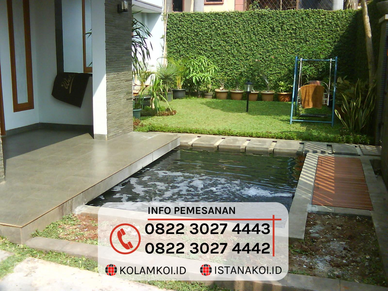 Kolam Ikan Koi Sederhana Design Minimalis di Banjar