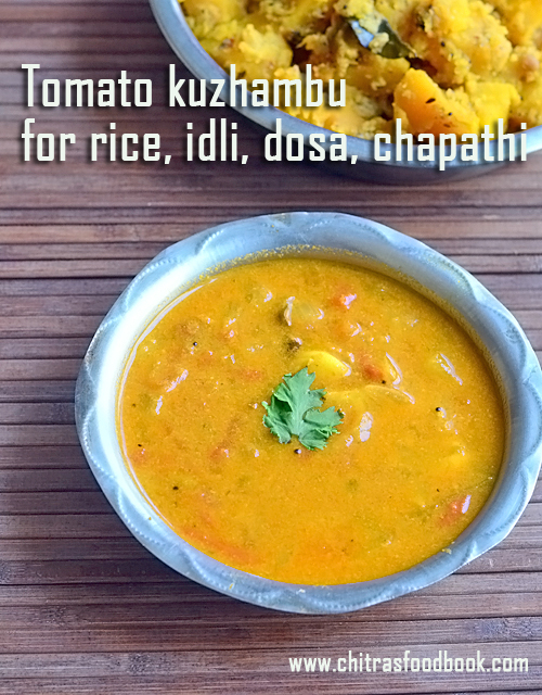 Tomato kuzhambu for rice