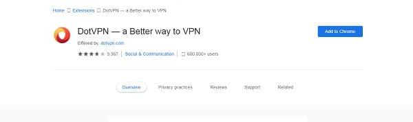 DotVPN لفتح المواقع المحجوبة