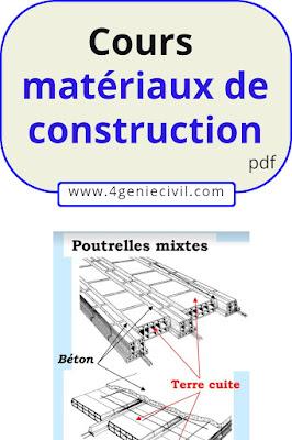 cours matériaux de construction génie civil pdf