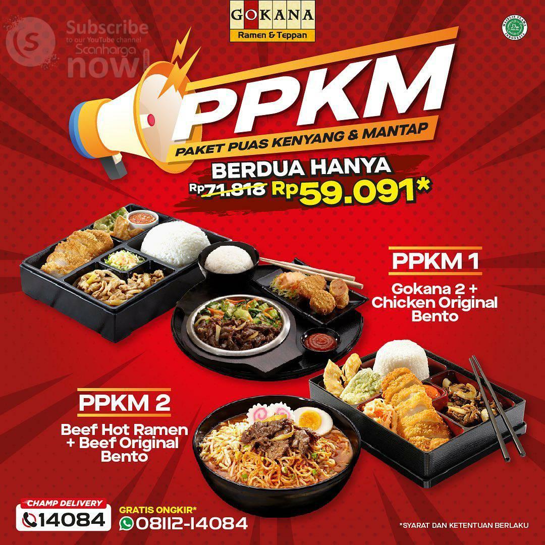 Promo GOKANA PPKM (Paket Puas Kenyang & Mantap) Harga mulai Rp. 39.545