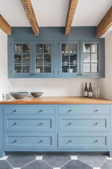صور لديكورات مطابخ زرقاء جميلة للغايه