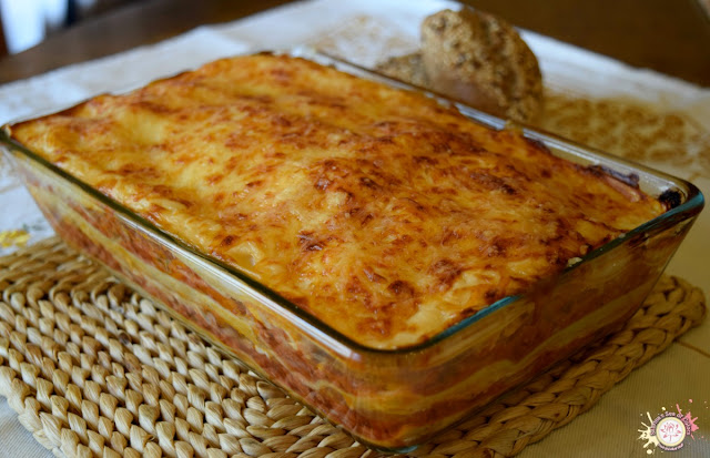 Lasaña de carne sin gluten sin lactosa