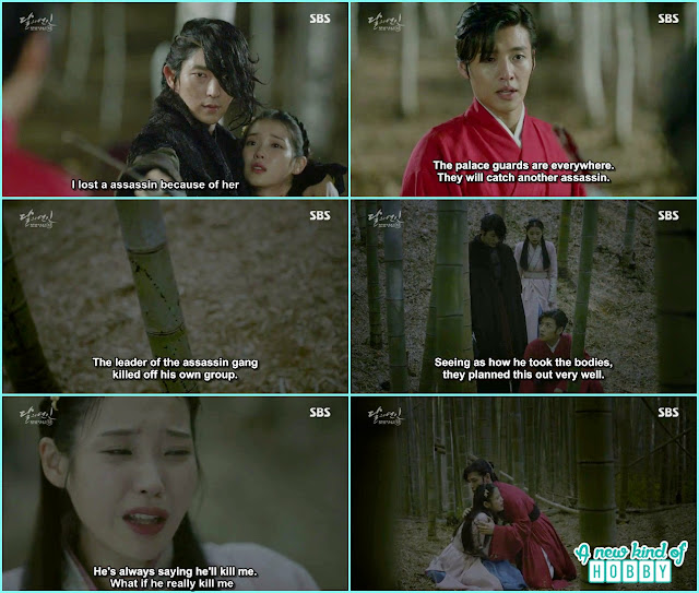 iu started crying saying when ever 4th prince see me he says i will kill you, 10 prince hug her and comfort her  - Moon Lovers: Scarlet Heart Ryeo - Episode 3 Review