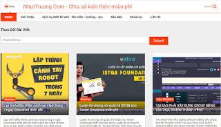 Hướng dẫn download khóa học miễn phí trên nhuttruong.com