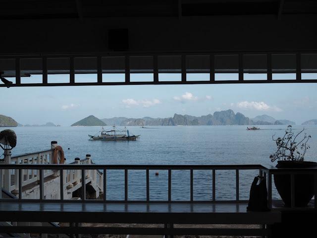 Vistas del mar desde el embarcadero de Lagen, en El Nido
