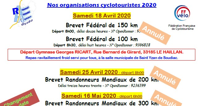 RAA Cyclo: Nos Organisations