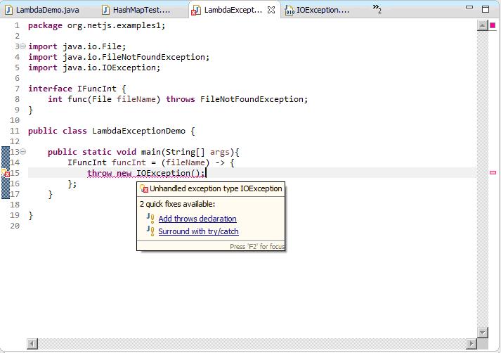 lambda expression exception handling2
