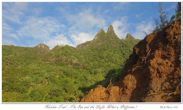 Kalalau Trail: The Sun and the Light. What a Difference !