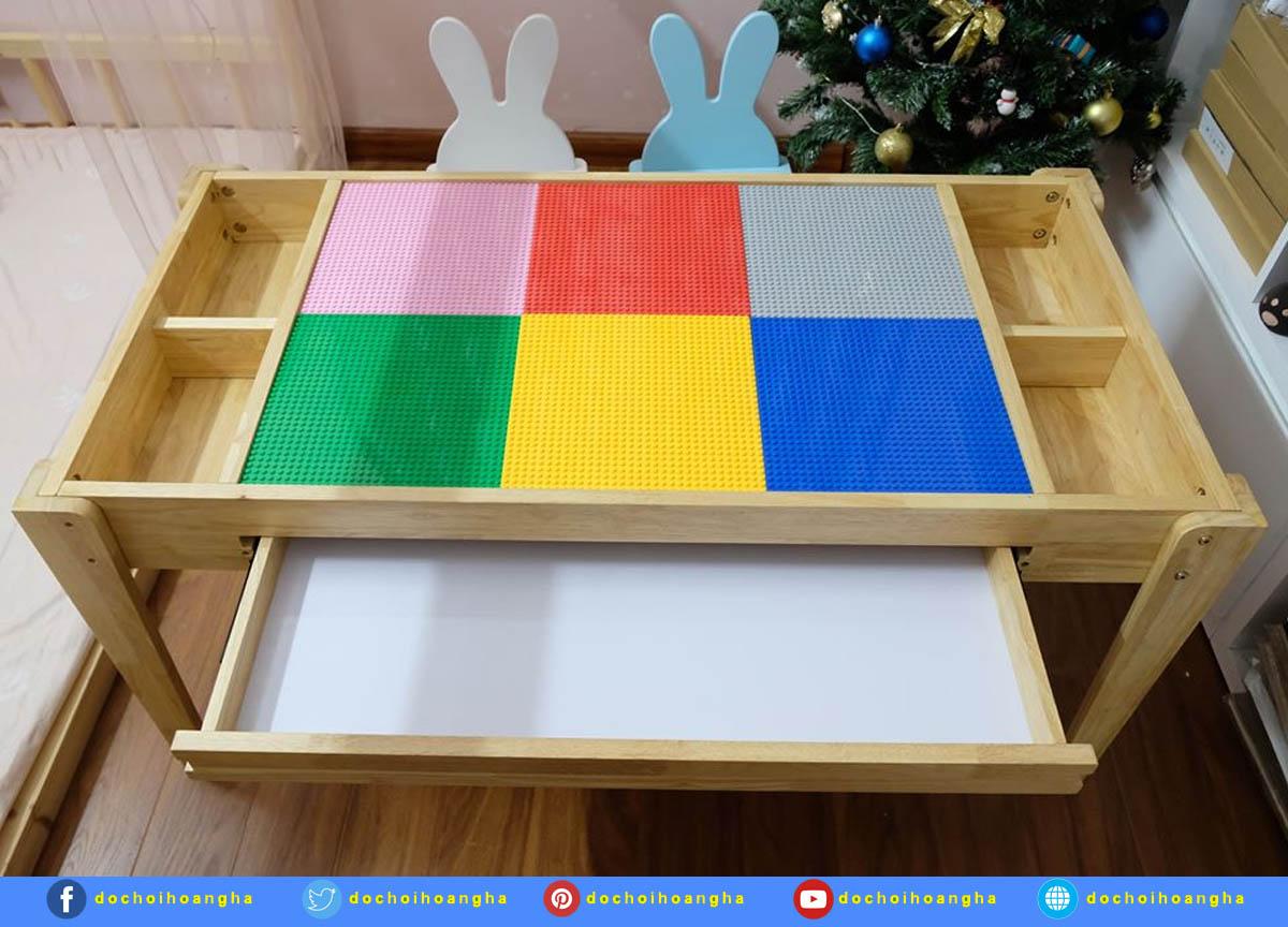 Bộ Bàn Ghế Chơi Xếp Hình Lego Đa Năng Cho Bé