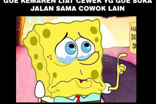 meme spongeboob tentang pacar