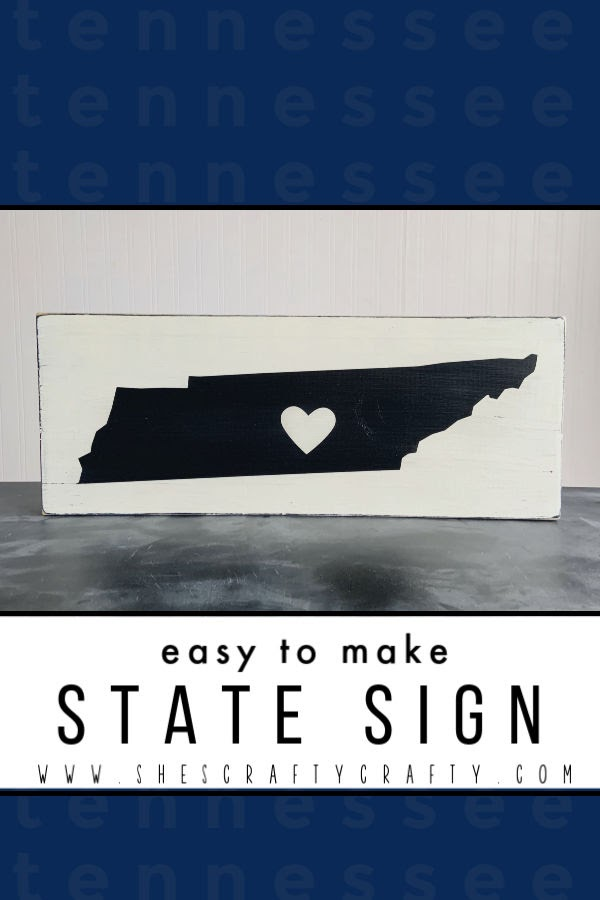 Easy to Make State Sign  |   use this tutorial to make a sign representing your home state  |  Tennessee State Sign