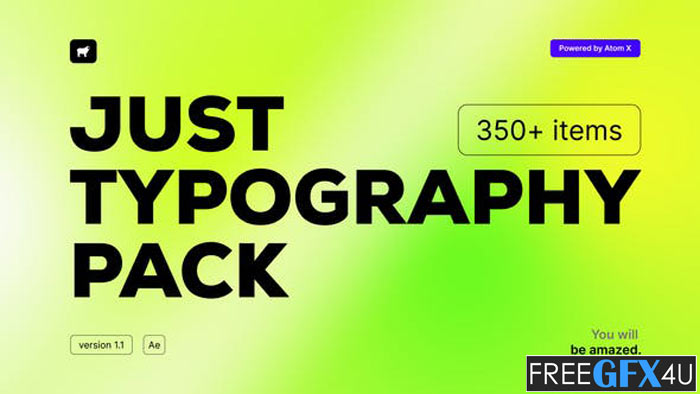 Just Typography Pack